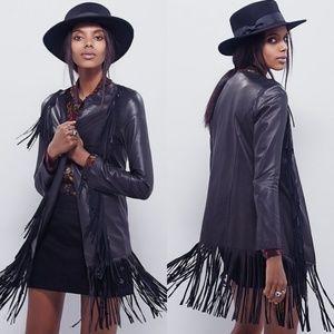 Cleobella Free People Fringe Leather Jacket Medium